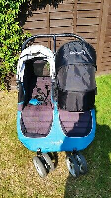 £149.99 • Buy Baby Jogger City Mini Double Pushchair Inc Detachable Carry Cot & Foot Muff Teal