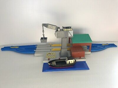 Cranky And Bulstrode At The Harbour - Trackmaster Set Thomas Tank Engine Docks • 18.99£