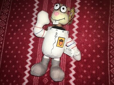 2003 Nanco Spongebob Squarepants Sandy Cheeks Soft Plush Stuffed Doll approx 9/""