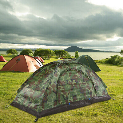AU30.25 • Buy Camping Tent For 1 Person Single Layer Portable Camouflage Travel Tent J8Q4