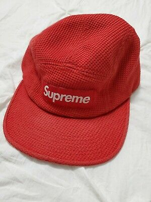 $ CDN40 • Buy Supreme Red Woven  Bogo Camp Hat SS19