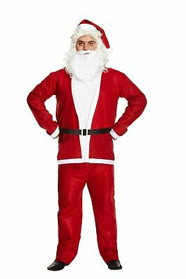 £14.99 • Buy Santa Claus Father Costume  Christmas Fancy Dress Budget Outfit Suit Adult *****