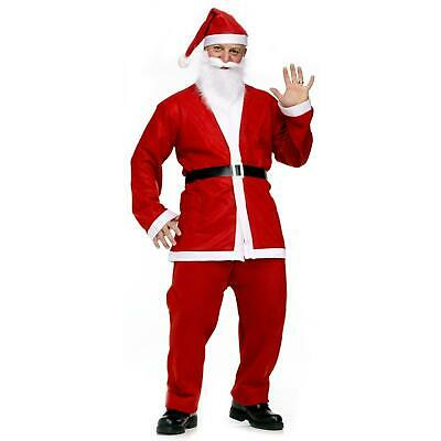 £14.99 • Buy Fancy Dress Budget Outfit Christmas Santa Suit Adult Claus Father Costume *****