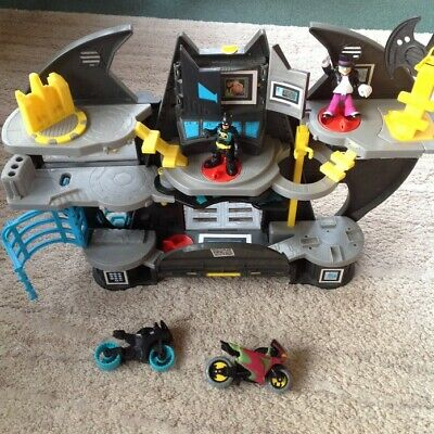 Batman Imaginext Bat Cave Playset - With Batman And Penguin • 25.99£