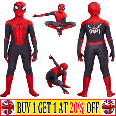 Kids Boys Spiderman Super Hero Cosplay Costume Fancy Dress Jumpsuit Clothes -AT • 15.77£