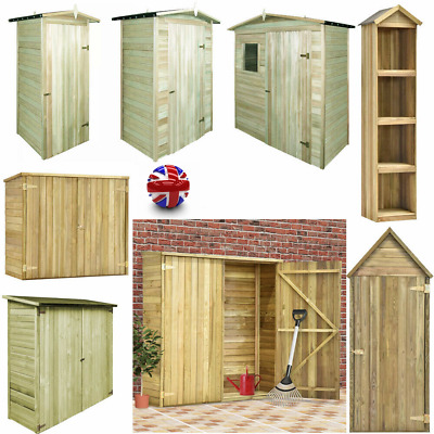Wooden Garden Sheds Shed Tool Storage Cabinet Box Cabin House Single Double Door • 149.35£