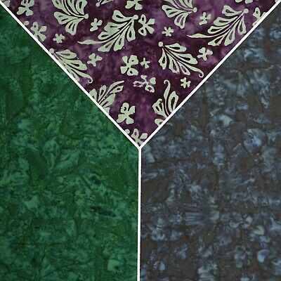 100% 45  Shaded Cotton Batik Dyed Printed Design Fabric Crafting Quilting D#101 • 9.99£