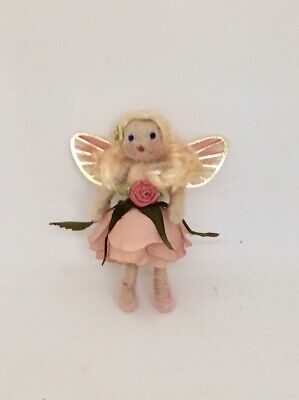 $27 • Buy OOAK Dusty Rose Fairy Doll, Needle Felted Fairy, Handcrafted Fairy