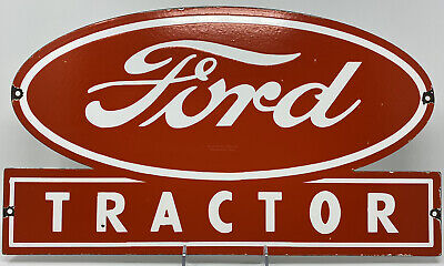 $ CDN326.44 • Buy Vintage Ford Tractor Porcelain Sign Farm Oil Gas Station Ih John Deere Cat Chevy