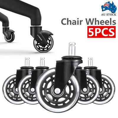 AU31.99 • Buy 5 Pcs Rollerblade Office Desk Chair Wheels Replacement Rolling Caster Grip Ring