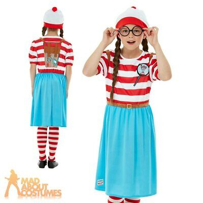 £20.49 • Buy Kids Girls Wheres Wally Wenda Costume Book Day Week Deluxe Fancy Dress Outfit