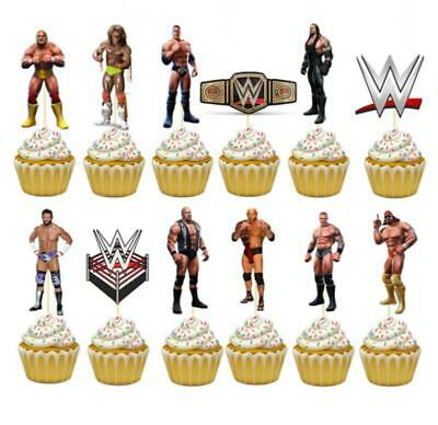 Wwe Wrestling  CUPCAKE CAKE TOPPER Party Balloon Decoration  • 9.19£