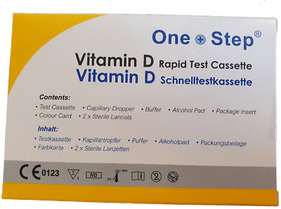 Vitamin D Level Insufficiency Deficiency Rickets Blood Home Testing/Test Kit • 7.59£