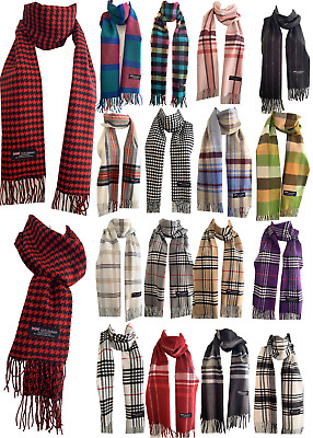 $6.45 • Buy Winter Womens Mens 100% Cashmere Wool Wrap Scarf Made In Scotland Color Scarves