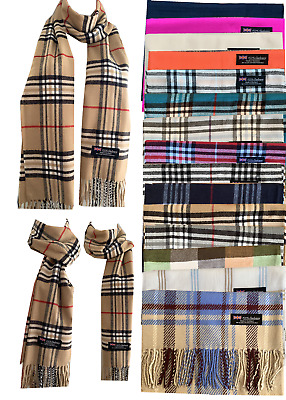 $6.45 • Buy New Winter Womens Mens 100% Cashmere Wool Wrap Scarf Made In Scotland Scarves