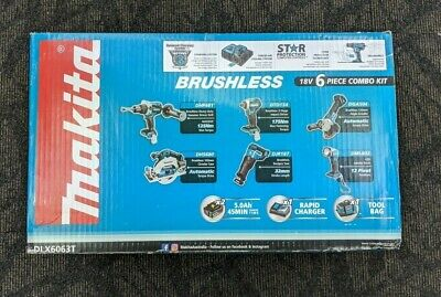 AU1399 • Buy Makita Dlx6063t 18v Brushless 6pc Combo Kit - Cordless Power Tool Set