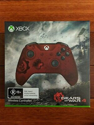AU119 • Buy Gears Of War 4 Crimson Omen Limited Edition Xbox One Wireless Controller PC Rare