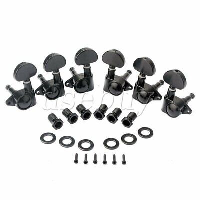 $ CDN22.22 • Buy Electric Guitar Tuner Tuning Pegs 3R3L Set GC207A Black Guitar Replacement