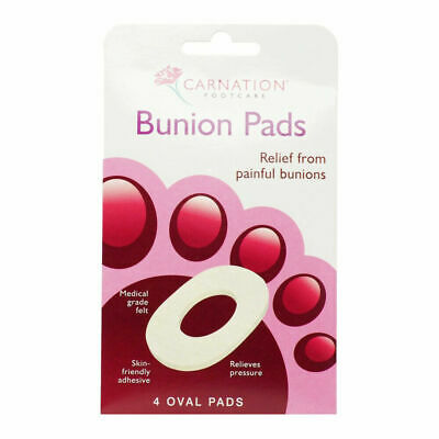 Carnation Bunion Pain Relief Oval Felt Self Adhesive Plaster 4 Pads • 2.65£