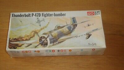 Rare Vintage Frog: F232 Republic Thunderbolt P-47d Fighter Bomber - Unmade • 10£