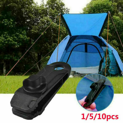 1/5/10Pcs Tarp Tarpaulin Clip Reusable Tent Clamp Buckle Camping Tool Heavy Duty • 6.99£