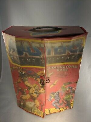 $5 • Buy Vintage 1984 Masters Of The Universe 8 Character Collectors Case 40700 He-Man