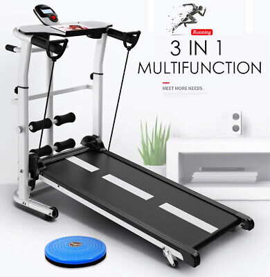 AU399.92 • Buy 3 In 1 Multifunction Manual Treadmill, Sit Up, Waist Twister Exercise Machine