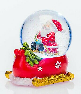 CeleBRIGHT Christmas Musical Santa Snow Globe - Changing Colour LED Lights -14cm • 14.99£