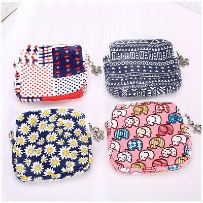 Vintage Style Retro Patterned Fabric Canvas Coin Purse Change Wallet Lady Girls • 2.95£