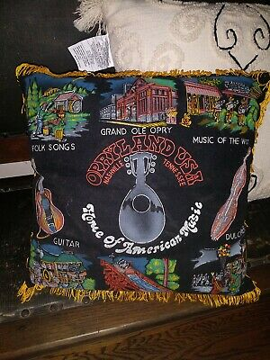 $49.99 • Buy Vintage  RARE Opryland Souvenir Pillow Nashville Tennessee Great Condition
