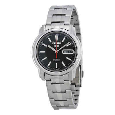 $ CDN98.22 • Buy Seiko Series 5 Automatic Black Dial Stainless Steel Watch SNKL83