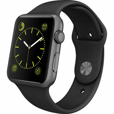 $ CDN134.04 • Buy Apple Watch Series 1 42mm Space Gray Aluminum Black Smart Watch - PREOWNED