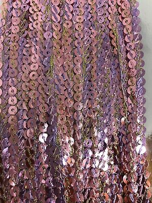£1.99 • Buy B6) 1 Yards Two Colour Trimming  Spangle Chain Sewing Craft Haberdashery