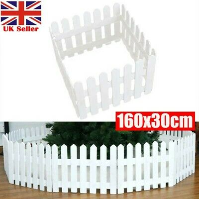 £16.97 • Buy Wood Picket Fence Garden Fencing Lawn Edging Home Yard Christmas Tree Fence UK