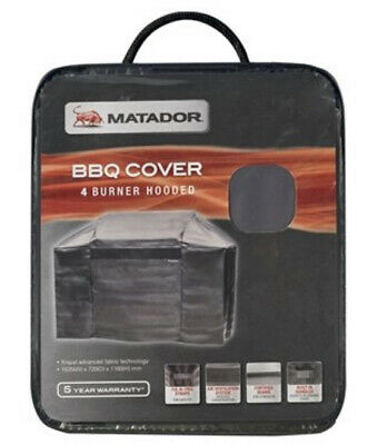 AU97.95 • Buy Matador XRepel Hooded BBQ Cover - 4 Burner Fix-N-Free Straps For Easy Fit