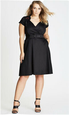 """AU15.50 • Buy City Chic """"Sweet Swallow"""" Fit And Flare Dress M/20"""
