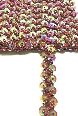 £1.99 • Buy B6) 1 Yards 15mm Spangle Chain Sewing Craft Haberdashery Bridal  Party Prom