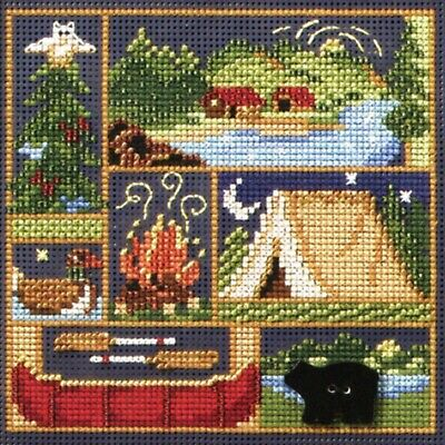 $12.99 • Buy Camping Out Cross Stitch Kit Mill Hill 2008 Buttons & Beads Spring MH148103