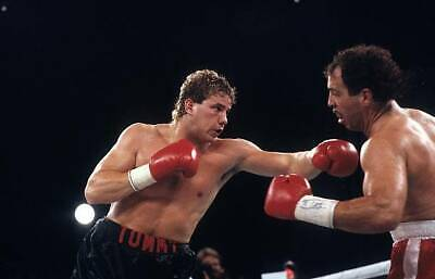 Tommy Morrison Throws A Left Punch To Ken Lakusta OLD BOXING PHOTO • 4.69£