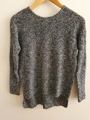 AU15 • Buy Country Road XS Jumper Sweater Grey Black Knit Size 8
