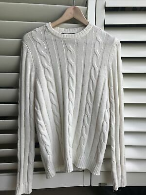 AU40 • Buy RRP$120 Size XS - Country Road Merino Wool Cable-Knit Sweater Off-white