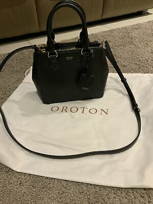 AU100 • Buy OROTON Black Leather Inez Petite Bag. EXTREMELY RARE TO FIND & Buy.