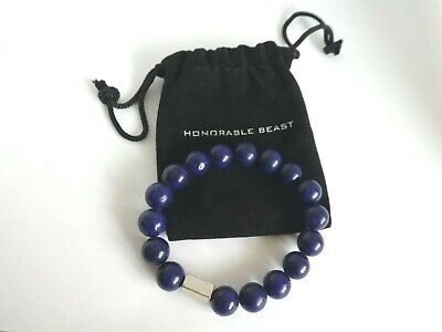 Honorable Beast Purplish Purple Beaded Bracelet Stretch Men's Jewelry Boho Indie • 7.09£
