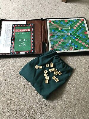Vintage Travel Scrabble - 1988 Spears Game Padded Zip Up Case 100% Complete  • 14.99£