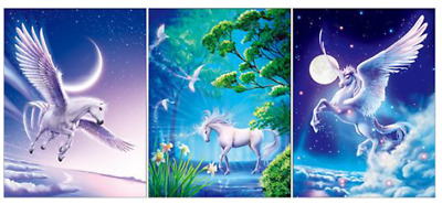 AU15.72 • Buy 3d Changing Picture White Unicorn, 3 Images In 1!! 15.5 X11.5