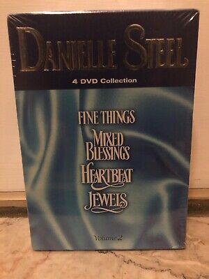 Danielle Steel Volume 2 DVD'S-JEWELS,MIXED BLESSINGS,HEARTBEAT,FINE THIINGS, NEW • 85.86£