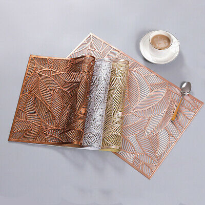 AU8.08 • Buy Leaf Placemats PVC Anti-Slip Insulation Washable Dining Table Wedding Party Mats