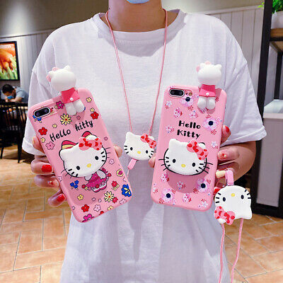 AU6.50 • Buy Cute Hello Kitty Doll Strap Holder Case Cover For IPhone 12 11 Pro XS Max 6 7 8+