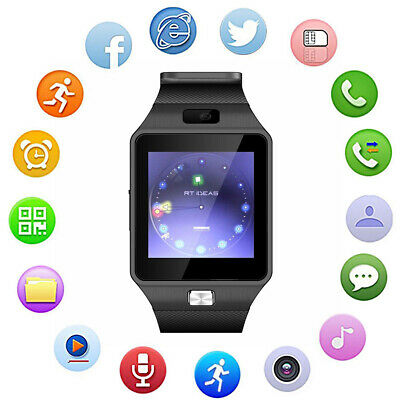 AU12.21 • Buy DZ09 1.54  Touch Camera Sports Watch Sleep Monitor Pedometer Bluetooth Bracelet