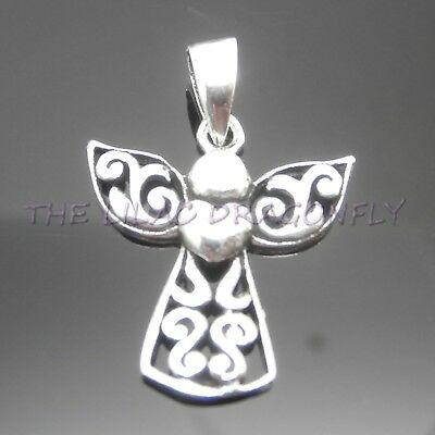 £6.99 • Buy 925 Sterling Silver Guardian Angel Heart Pendant GiftBag UK Seller *No Necklace*